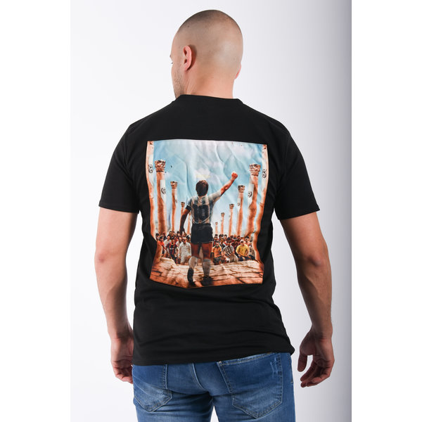 "Y T-Shirt ""maradona""  Black"