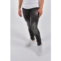 "Y Skinny fit stretch jeans ""odin"" Black - White / Yellow splashes"