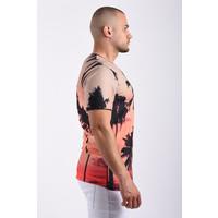 """Y T-Shirt """"palm trees""""  black"""