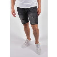 "Y Jeans stretch shorts ""troy"" Black destroyed"