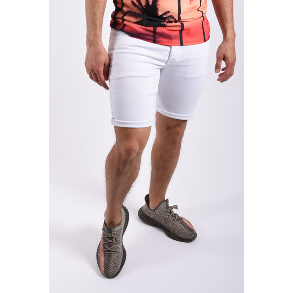 "Y Jeans stretch shorts ""troy"" White"