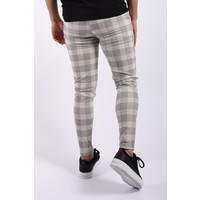 Y Stretch pantalon checkered Creme