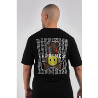 "Y T-shirt ""happines"" Black"
