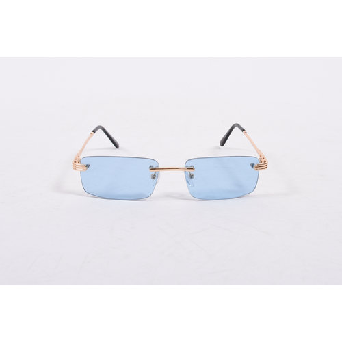 "Y Zonnebril / Sunglasses ""carter"" blue / gold"