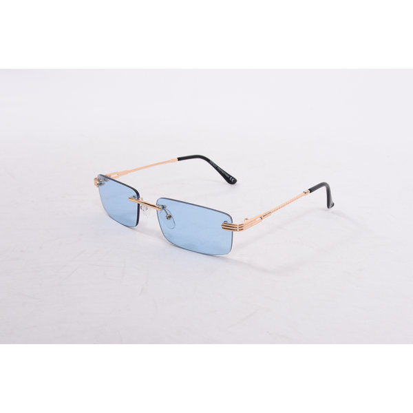 "Y Zonnebril / Sunglasses ""carter"" blue / gold"