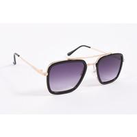 "Y Zonnebril / Sunglasses ""squared"" Black / Gold"