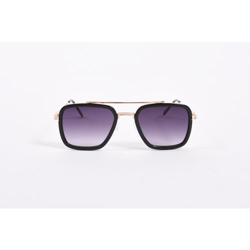 "Y Zonnebril / Sunglasses ""squared"" Black / Gold"