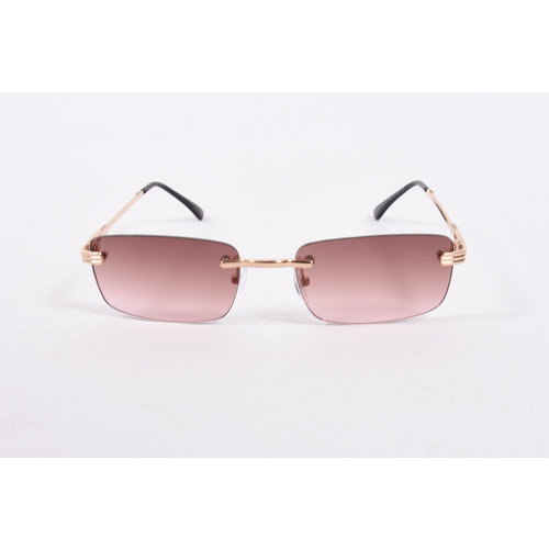 "Y Zonnebril / Sunglasses ""carter"" brown / gold"