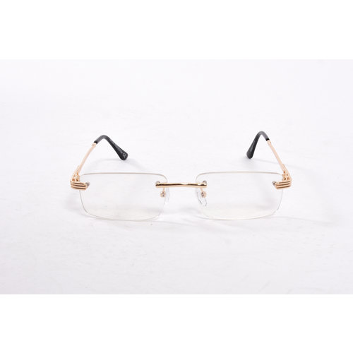 "Y Zonnebril / Sunglasses ""carter"" see through gold"