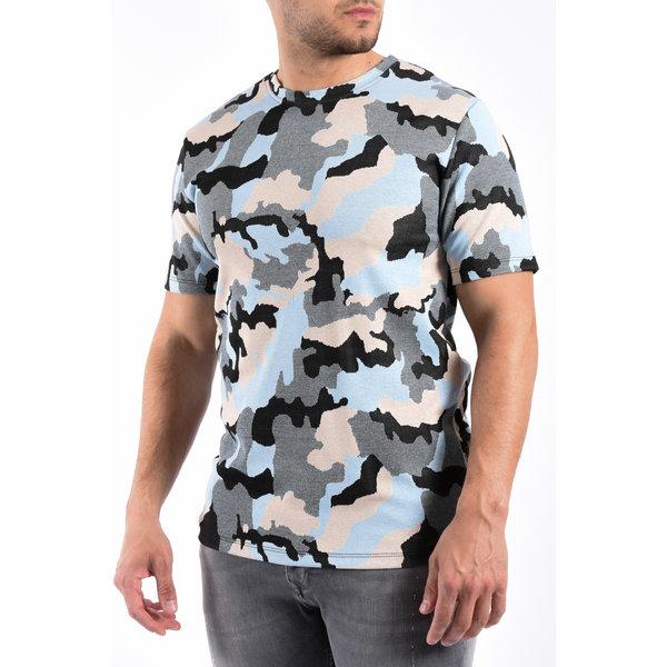 """Y T-Shirt """"camo"""" Light Blue"""