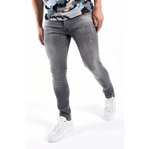 "Y Skinny fit stretch jeans ""hunter"" Grey Splashed"