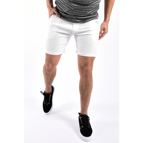Y Super stretch shorts White