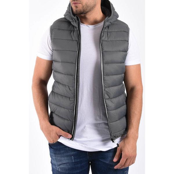 """Y Bodywarmer hooded """"toreto"""" Grey"""