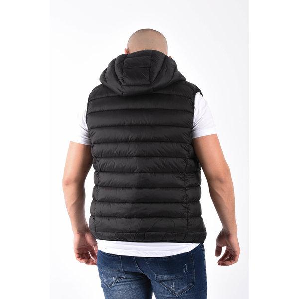 """Y Bodywarmer hooded """"toreto"""" Black"""
