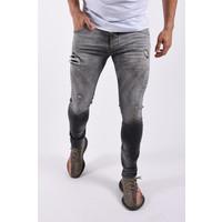 "Y Skinny fit stretch jeans ""felix"" Grey / Yellow Black splashes"
