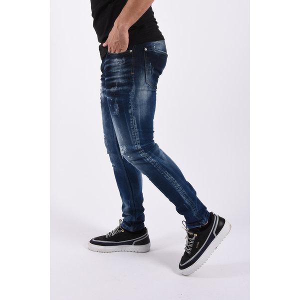 "Y Skinny fit stretch jeans ""felix"" Blue splashed"