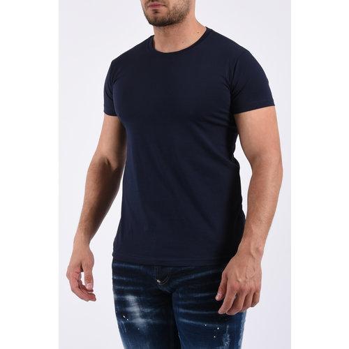 Y T-Shirt basic stretch - Navy