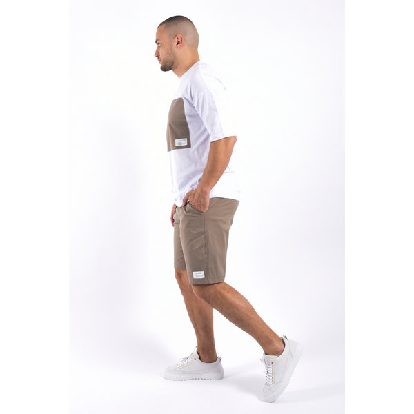 """Y Two piece set """"marrakech"""" loose fit - white / brown"""