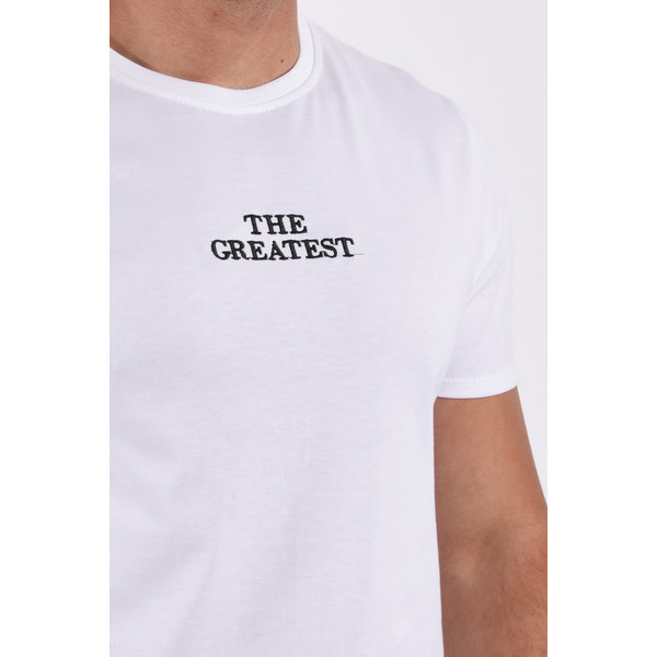 """Y T-Shirt """"the greatest"""" White"""