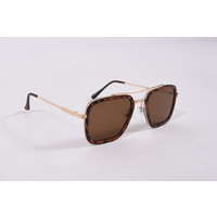 """Y Zonnebril / Sunglasses """"squared"""" panther gold"""