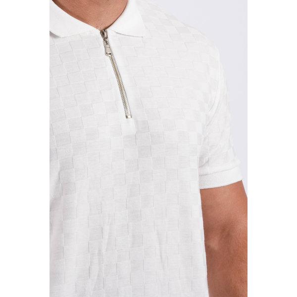 "Y Polo zipper ""squared"" White"