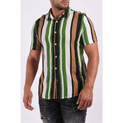 """Y Summer blouse """"striped"""" green"""
