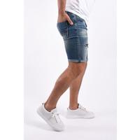 """Y Jeans stretch shorts """"dale"""" Dark Blue damaged"""