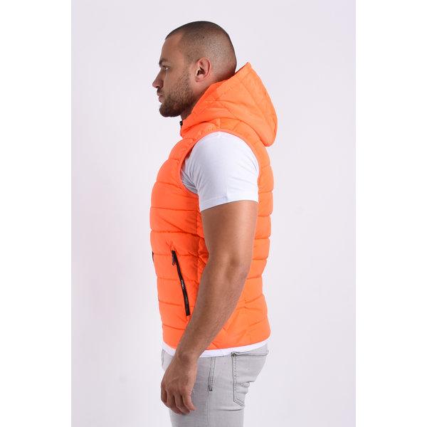 """Y Bodywarmer hooded """"paul"""" Orange"""