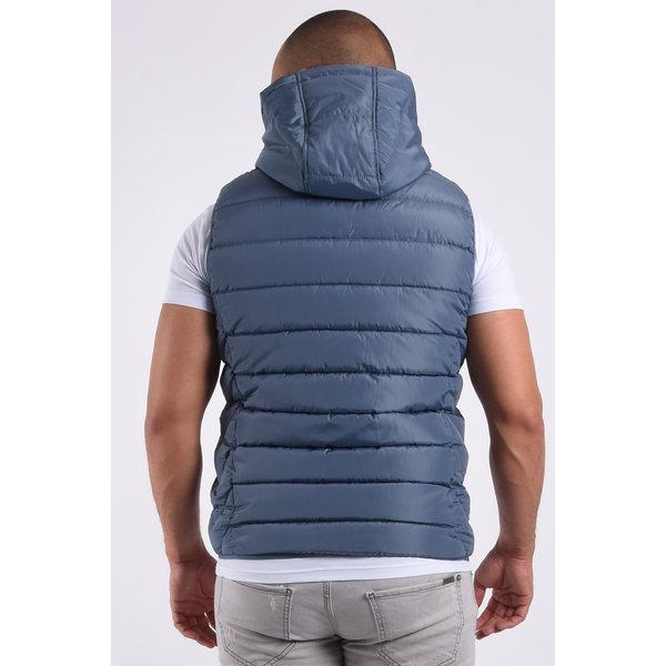 """Y Bodywarmer hooded """"paul"""" Fog Blue"""