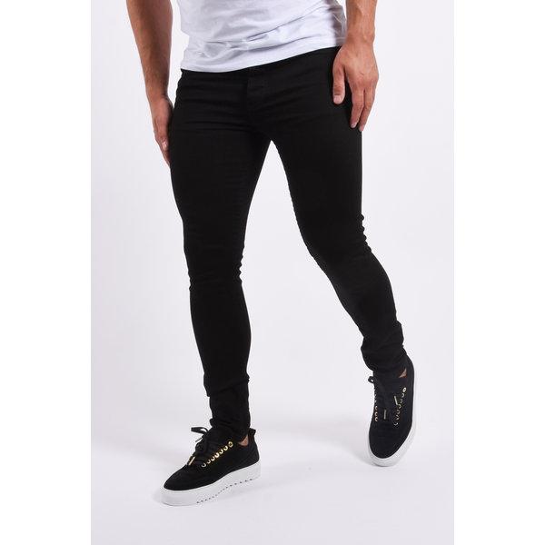 "Y Skinny fit stretch jeans ""hunter"" Total Black"