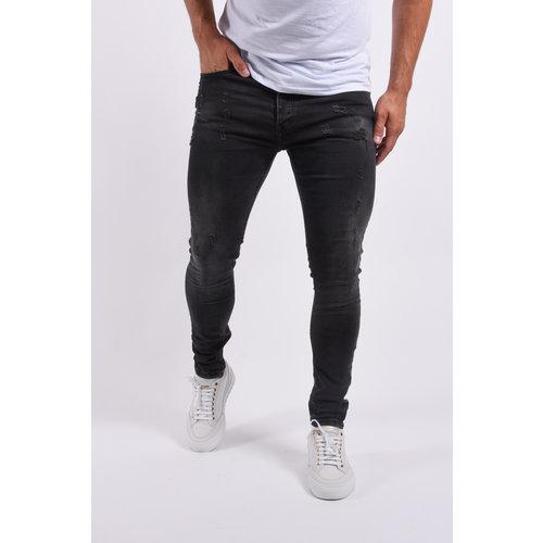 "Y Skinny fit stretch jeans ""hunter"" Black washed"