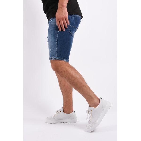 "Y Jeans stretch shorts ""troy"" Dark Blue destroyed"