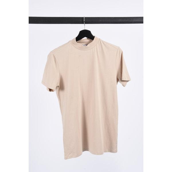 "Y FR T-shirt high neck ""rick"" Beige"
