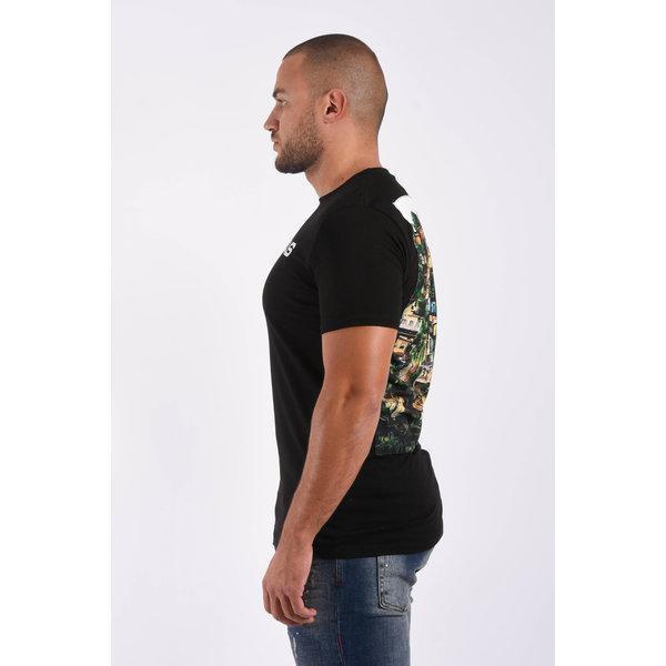 """Y T-Shirt """"favelas"""" Black"""