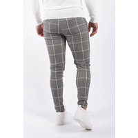 Y Stretch pantalon checkered Grey / Beige
