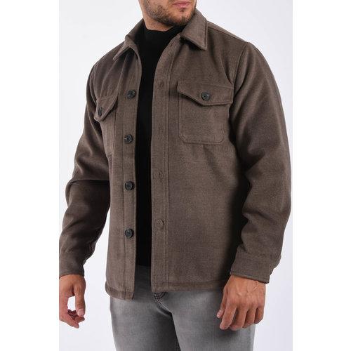 "Y Jacket / Overshirt ""marino"" Brown"