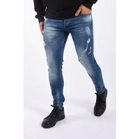 "Y Skinny fit stretch jeans ""marek"" Blue damaged"