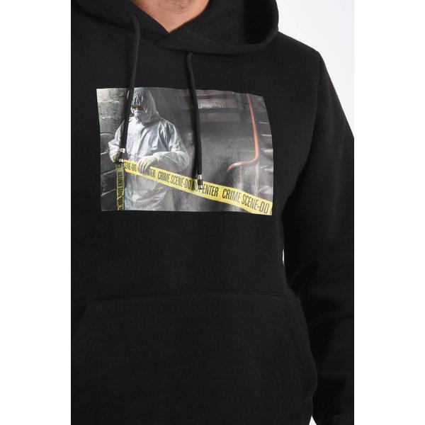 """Y Hoodie """"crime scene"""" Black"""