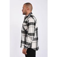 Y Flannel Jacket unisex Black / White