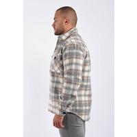 Y Flannel Jacket unisex Grey / Beige