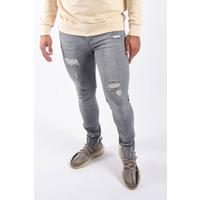 "Y Skinny fit stretch jeans ""kareem"" Grey damaged"