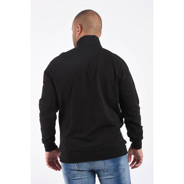 Y Sweater half zipped Black