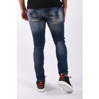 "Y Skinny fit stretch jeans ""leroy"" Blue white / red splashes"