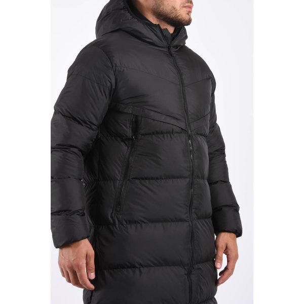 "Y Long puffer jacket ""bear"" Black"