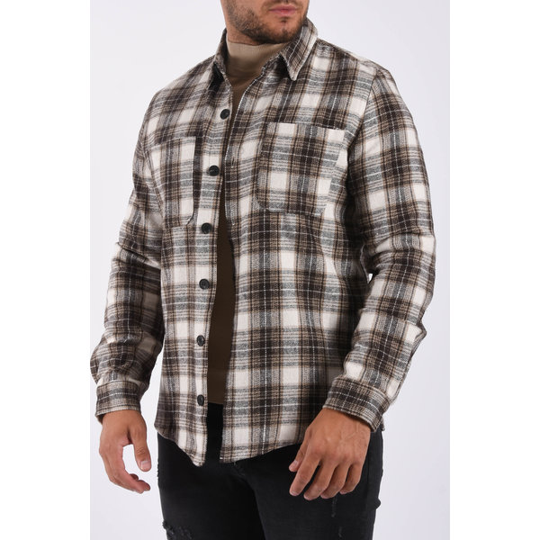 """Y Flannel shirt """"bobby"""" Brown"""