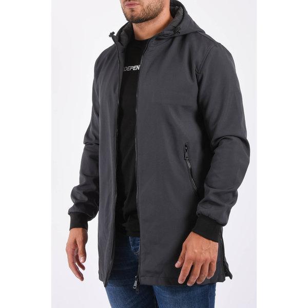 Y Softshell jacket long Grey