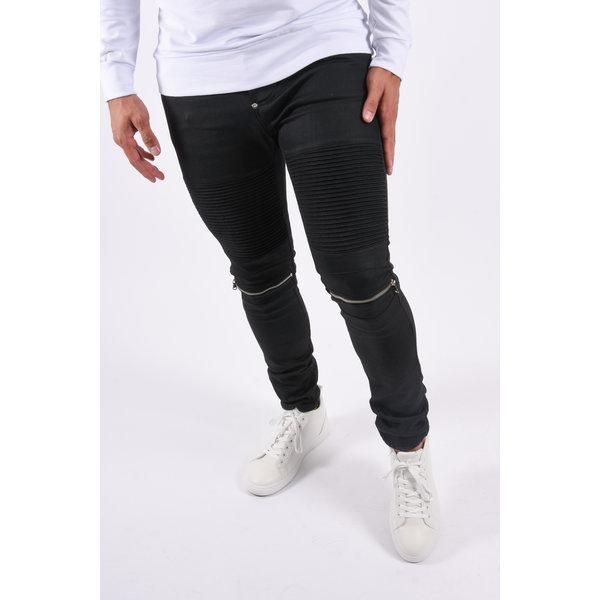 "Y Skinny fit stretch jeans ""biker"" Black"