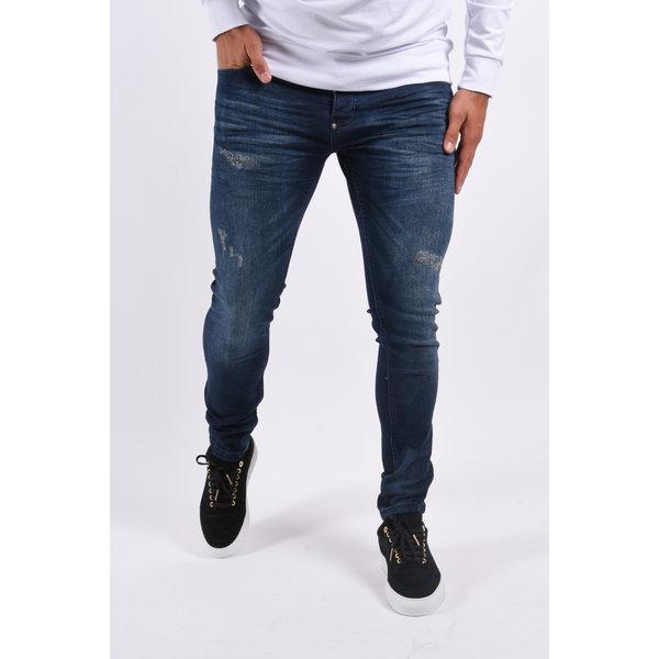 """Y Skinny fit stretch jeans """"dragon"""" Blue"""