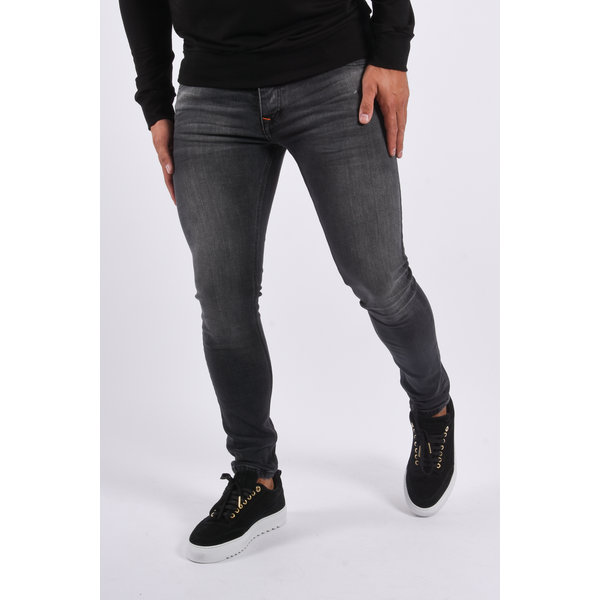 """Y Skinny fit stretch jeans """"dragon"""" Dark Grey"""