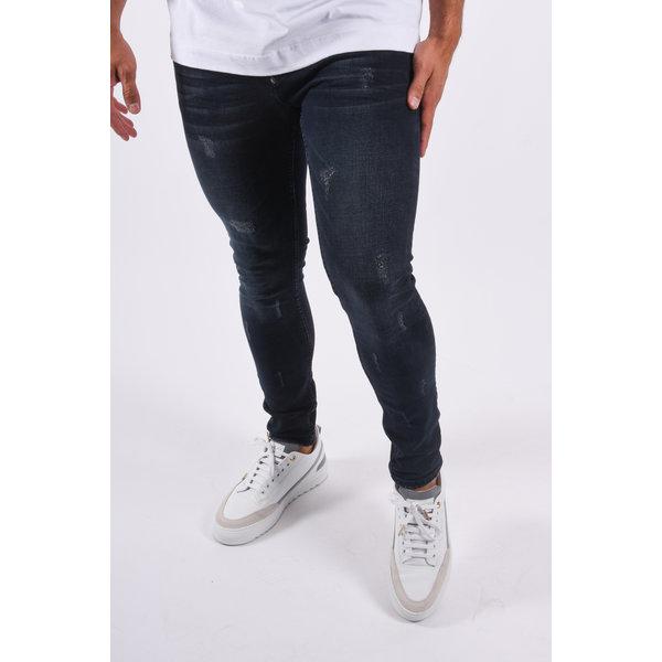 """Y Skinny fit stretch jeans """"dragon"""" Dark Blue"""